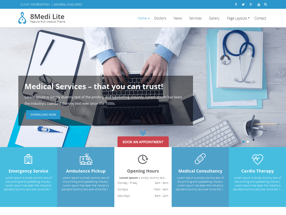 Eightmedi Lite Download Free Wordpress Theme 1