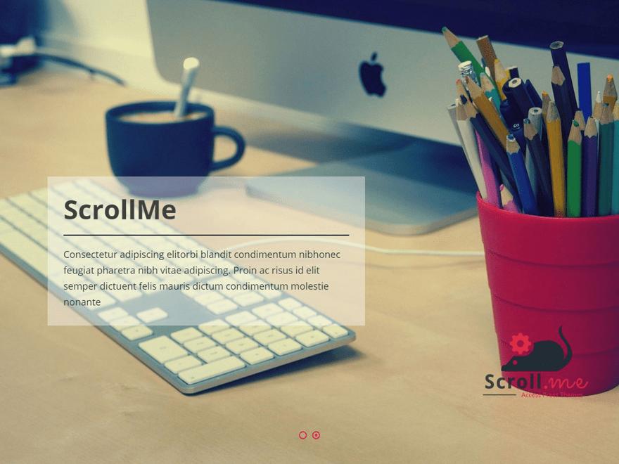 ScrollMe Download Free Wordpress Theme 1