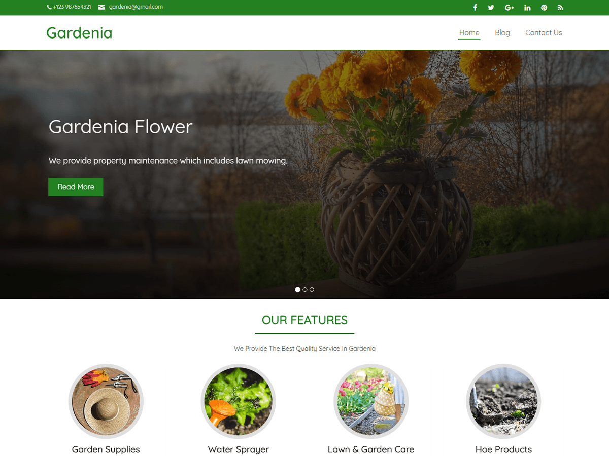 Gardenia Download Free Wordpress Theme 1
