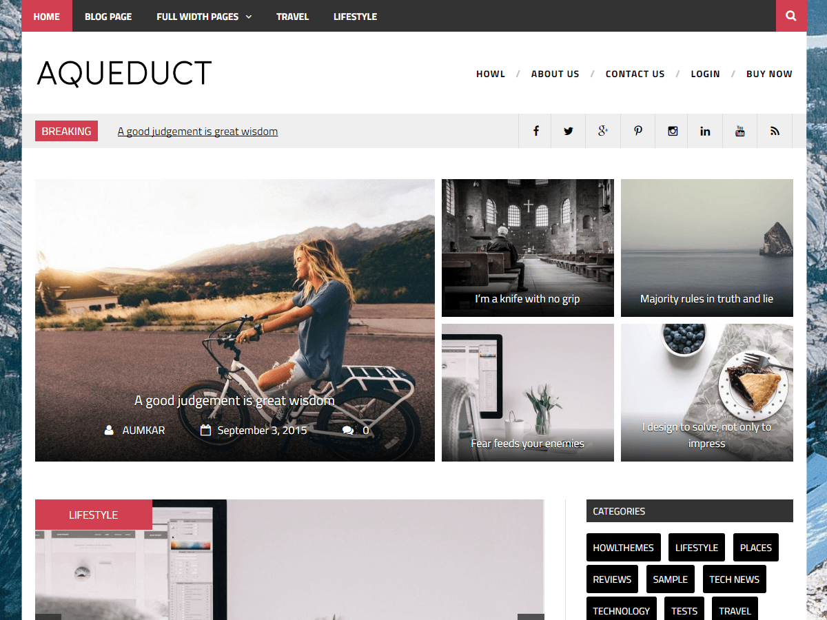 Aqueduct Download Free WordPress Theme