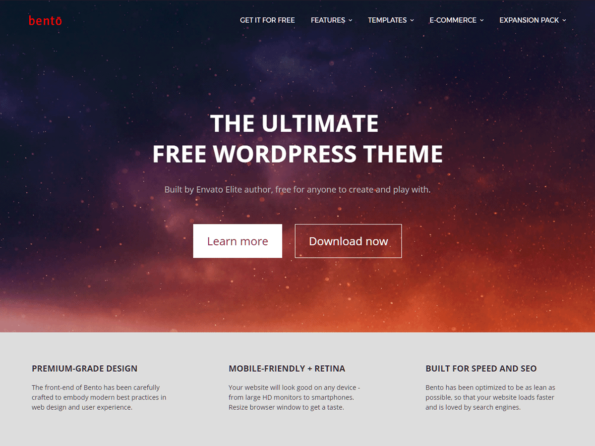 Bento Download Free Wordpress Theme 2