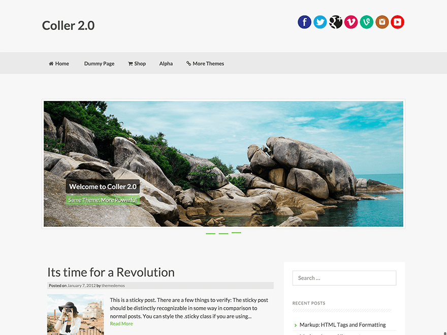 Coller Download Free Wordpress Theme 4