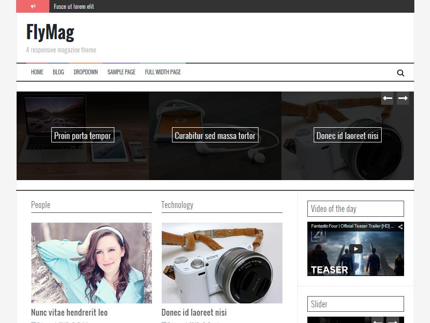 FlyMag Download Free Wordpress Theme 2