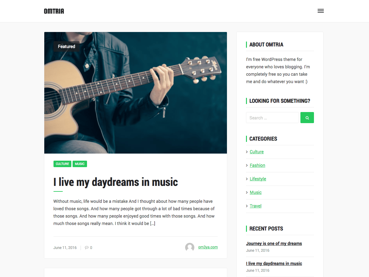 Omtria Download Free Wordpress Theme 3