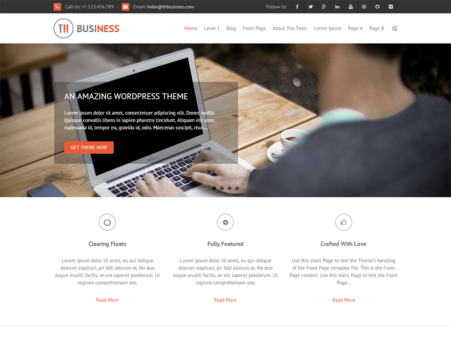 THBusiness Download Free Wordpress Theme 5