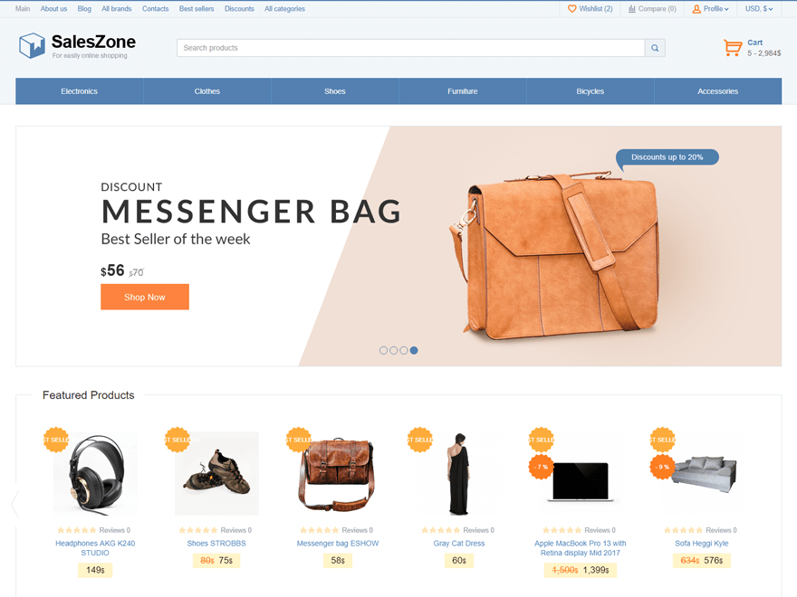 SalesZone Download Free Wordpress Theme 1