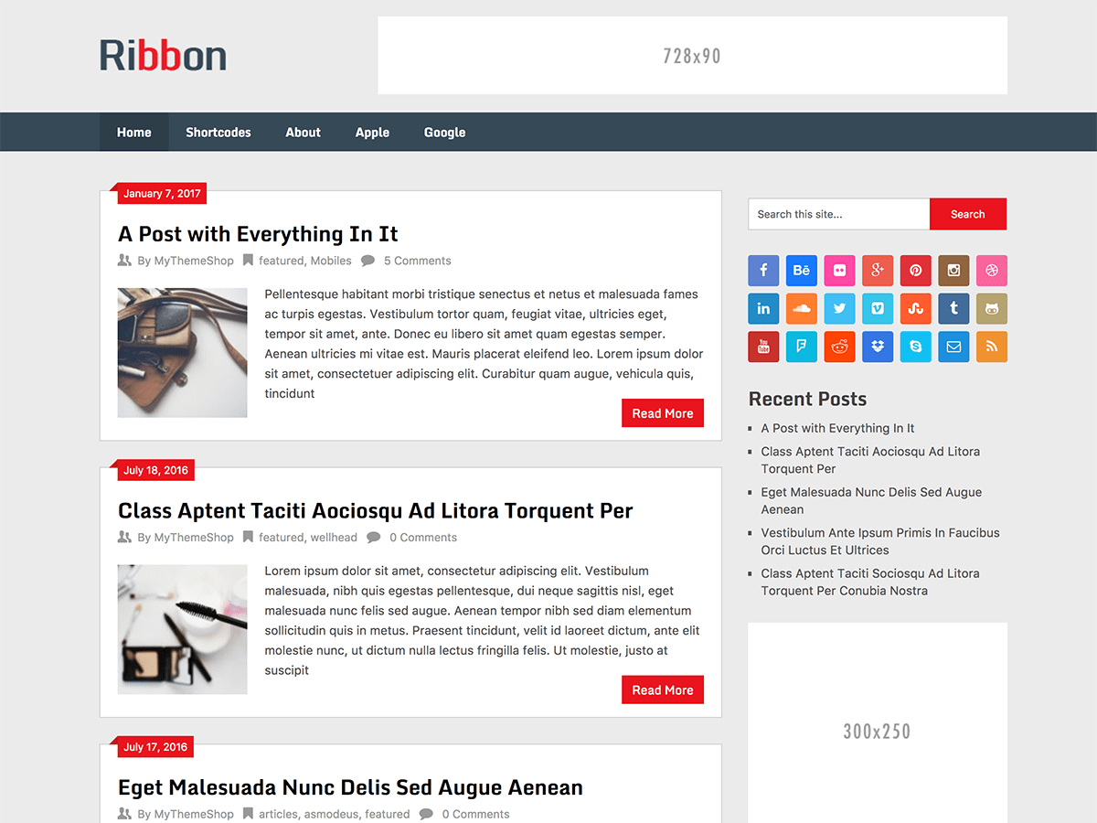 Ribbon Lite Download Free Wordpress Theme 2