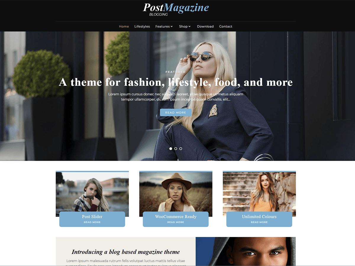 PostMagazine Download Free Wordpress Theme 3