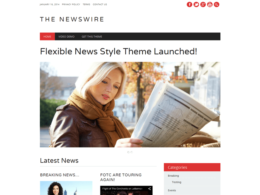 The Newswire Download Free Wordpress Theme 2