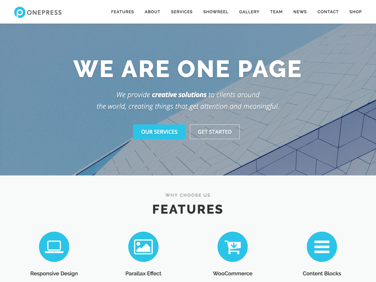 OnePress Download Free Wordpress Theme 5