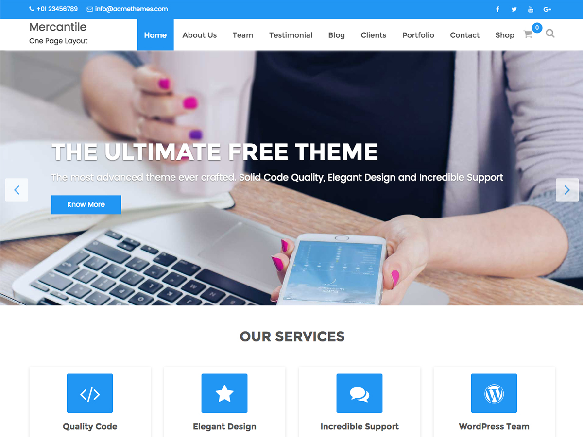 Mercantile Download Free Wordpress Theme 3