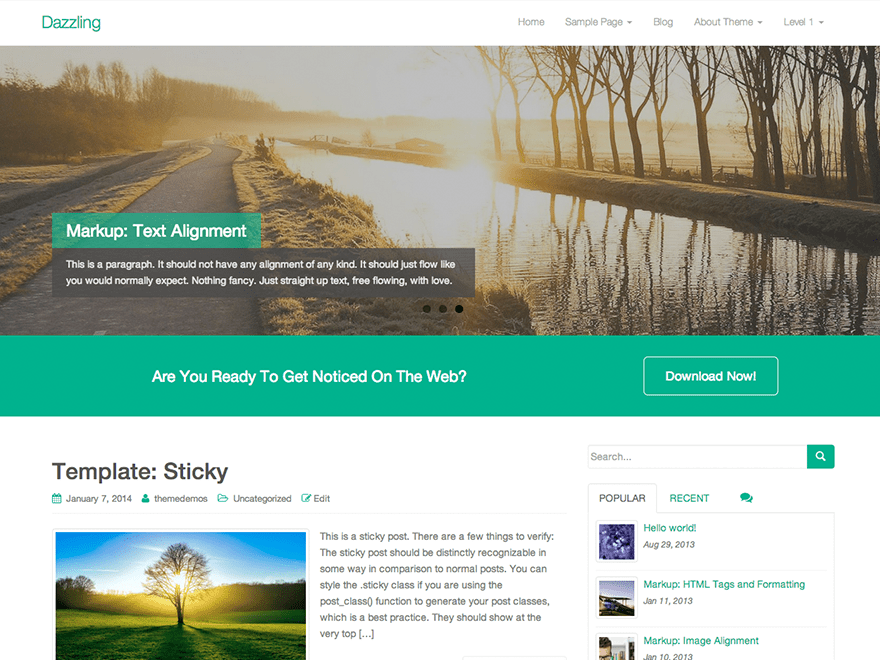 Dazzling Download Free Wordpress Theme 3