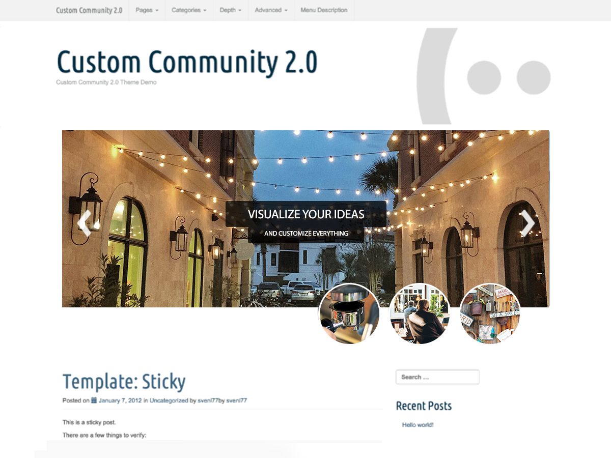 Custom Community Download Free Wordpress Theme 1