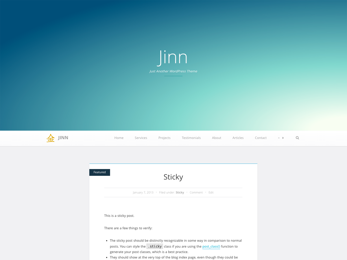 Jinn Download Free Wordpress Theme 1