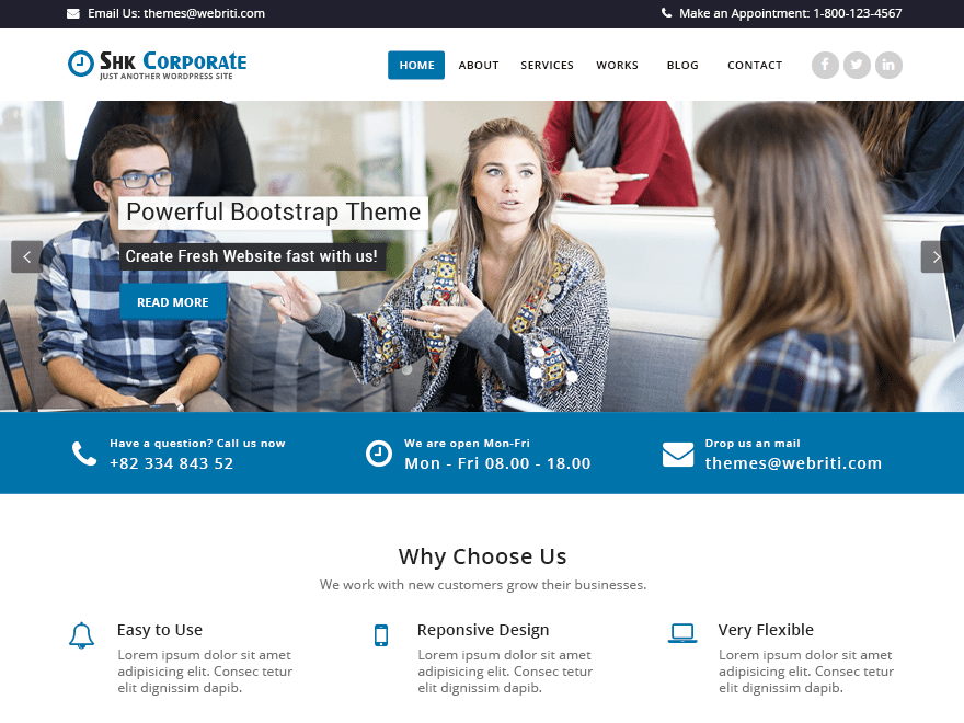 Shk Corporate Download Free Wordpress Theme 2