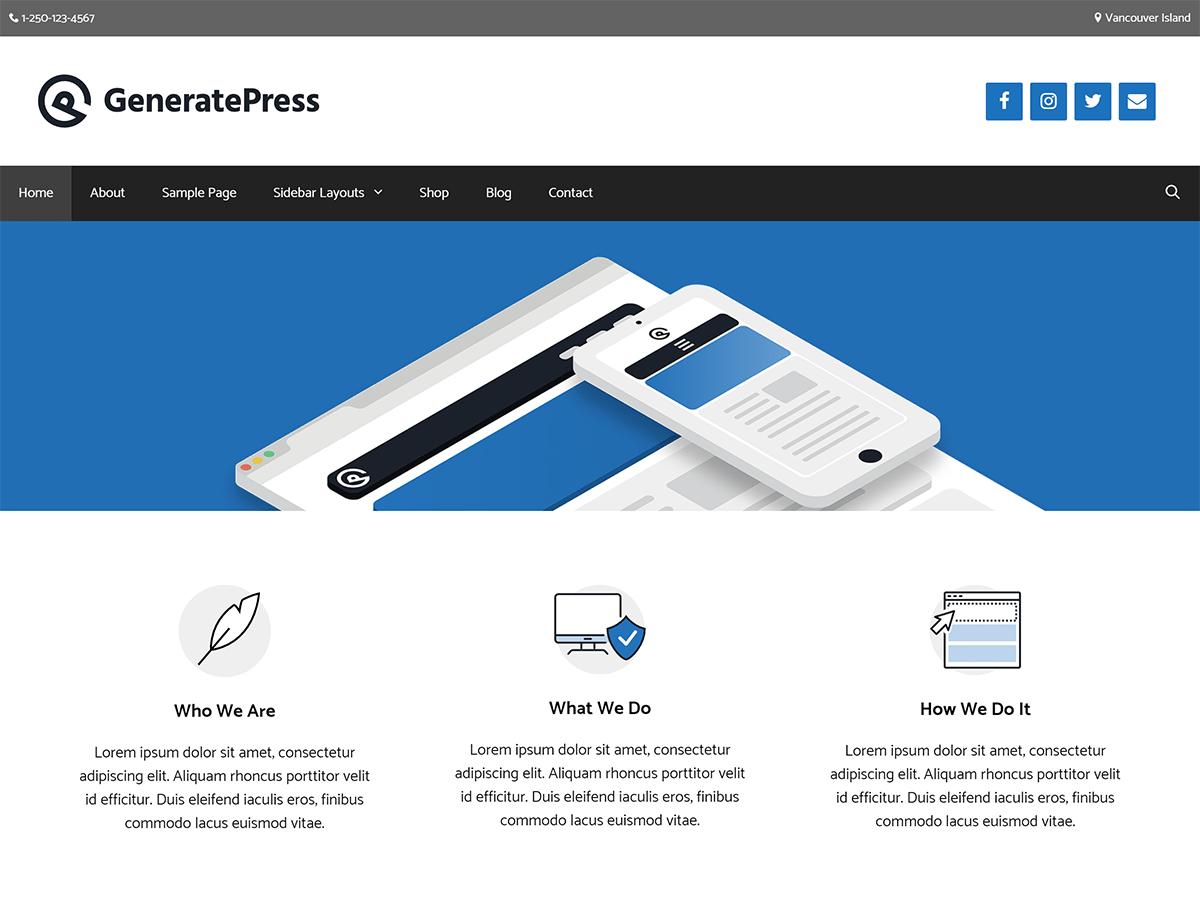 GeneratePress Download Free Wordpress Theme 3