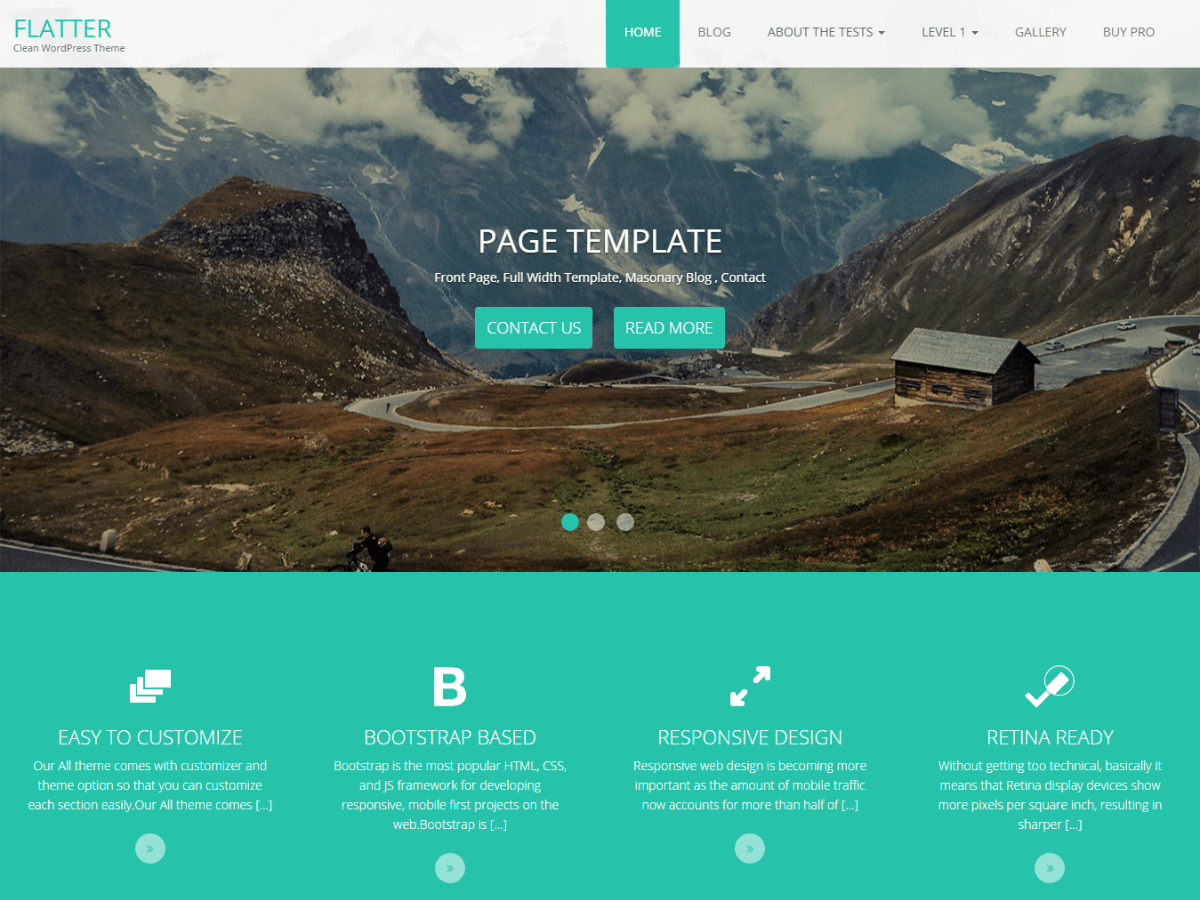 Flatter Download Free Wordpress Theme 3