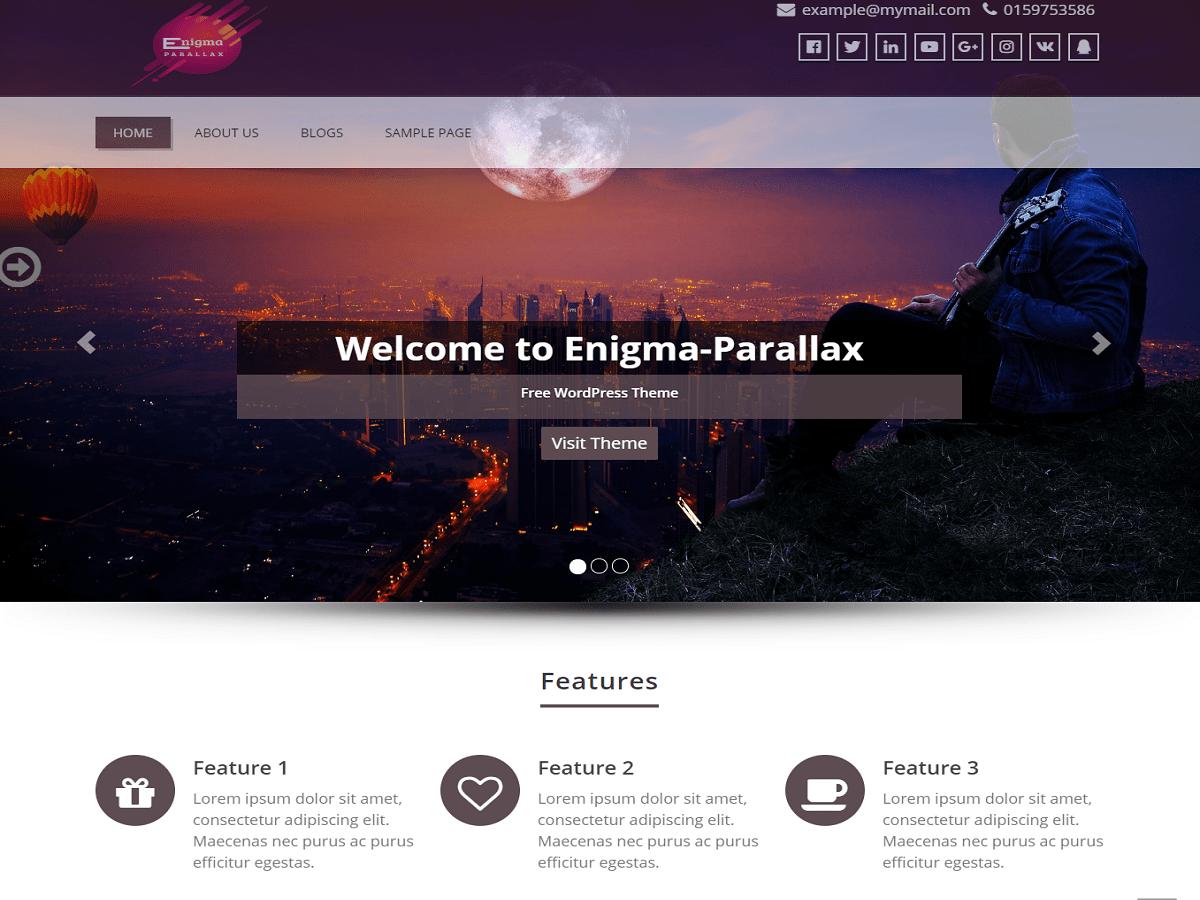 Enigma-parallax Download Free Wordpress Theme 2