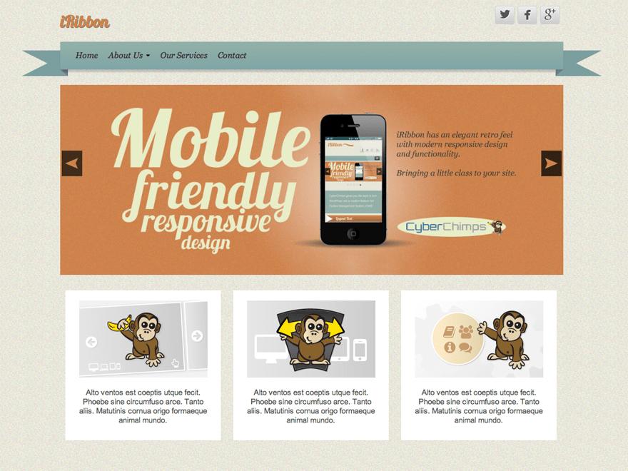 iRibbon Download Free Wordpress Theme 4
