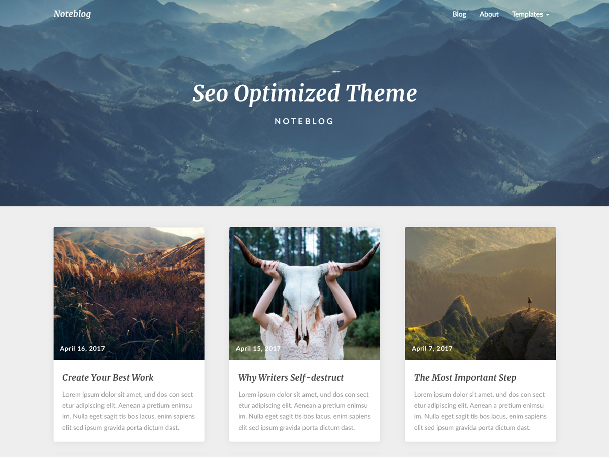 Noteblog Download Free Wordpress Theme 2