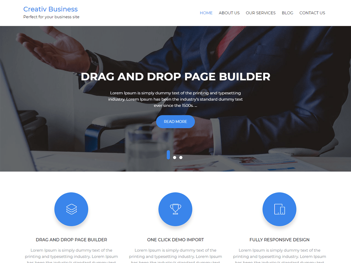 Creativ Business Download Free Wordpress Theme 4