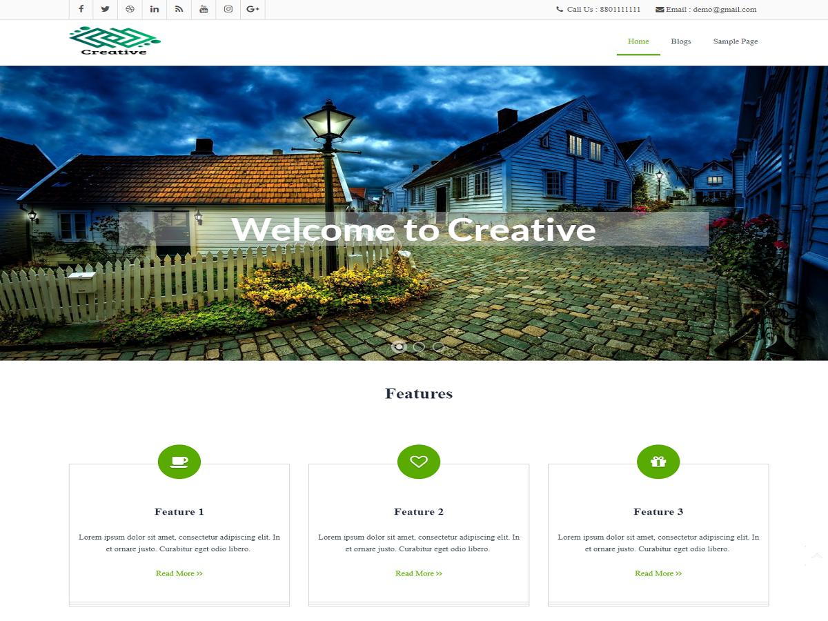 creative Download Free Wordpress Theme 4
