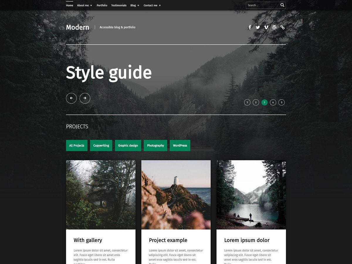 Modern Download Free Wordpress Theme 5