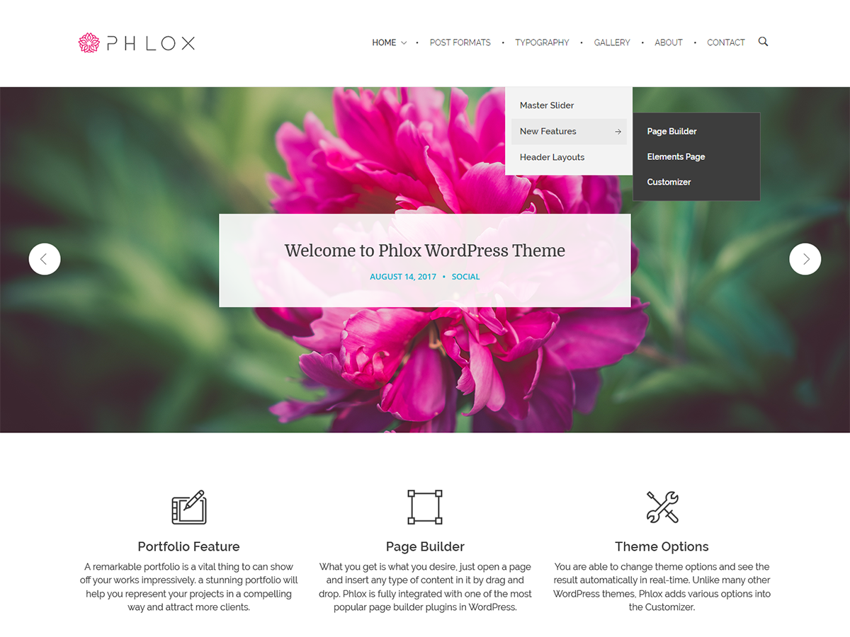 PHLOX Download Free Wordpress Theme 2