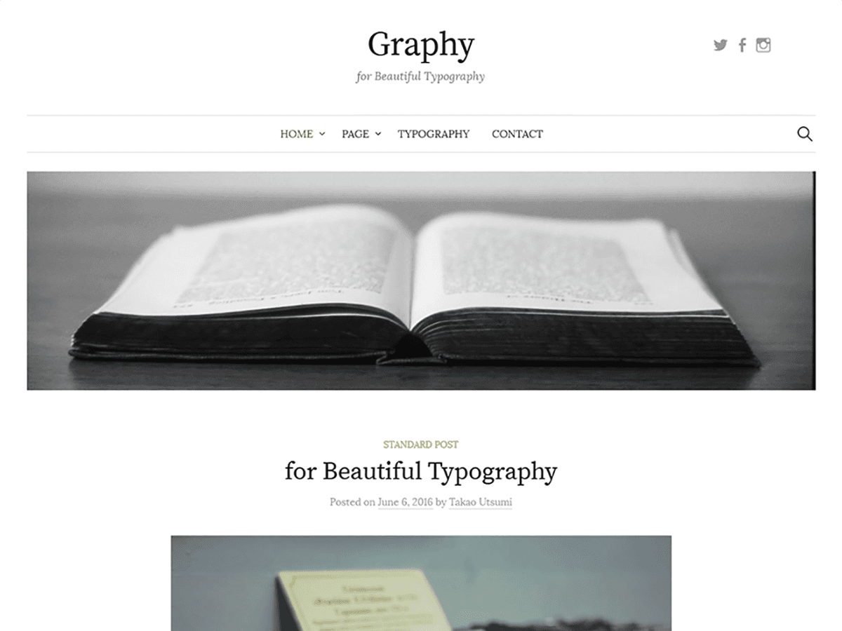 Graphy Download Free WordPress Theme