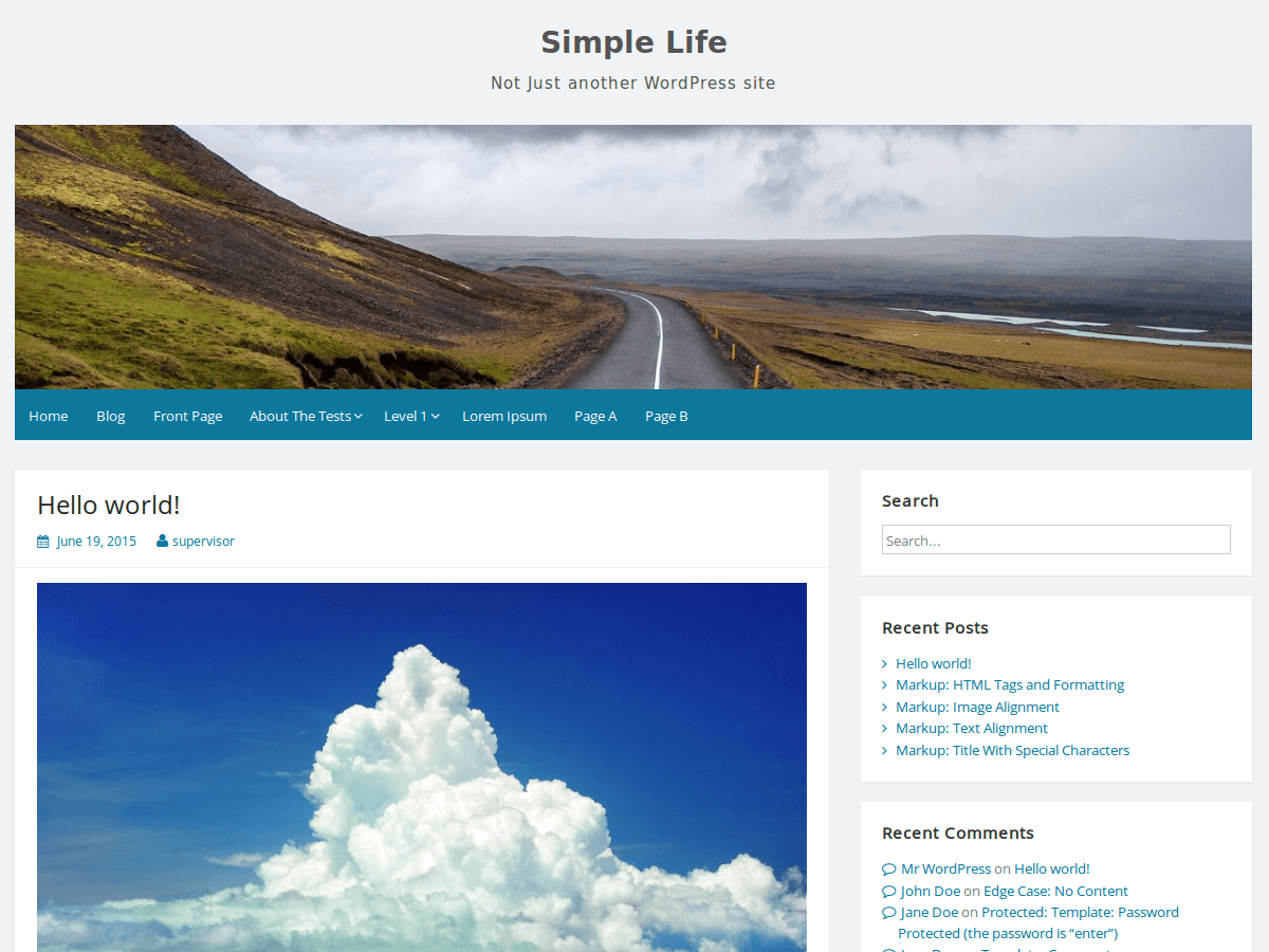 Simple Life Download Free Wordpress Theme 3