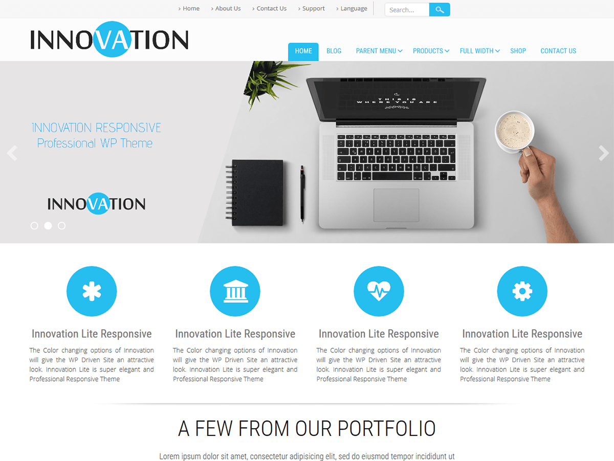 Innovation Lite Download Free Wordpress Theme 4