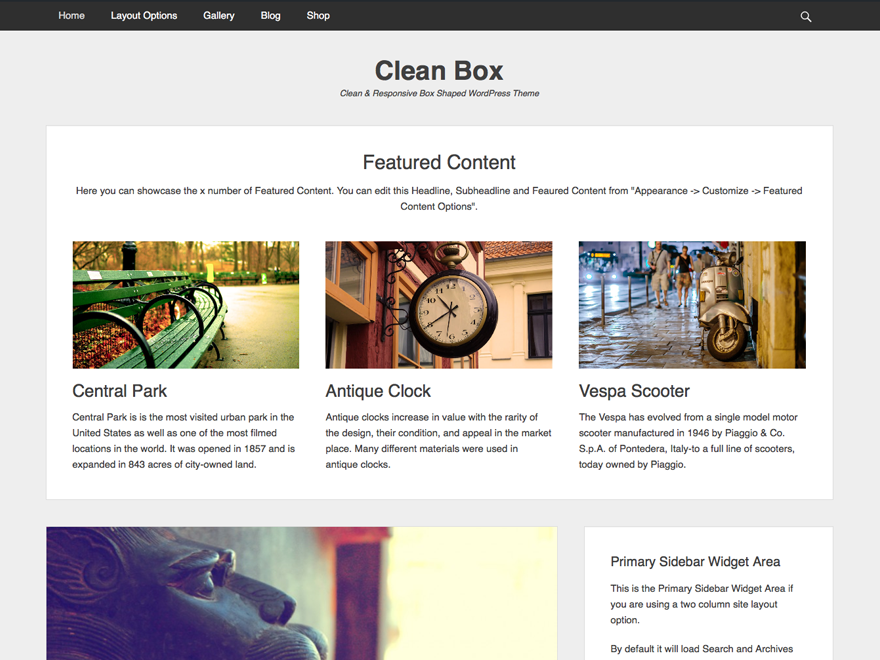 Clean Box Download Free Wordpress Theme 5