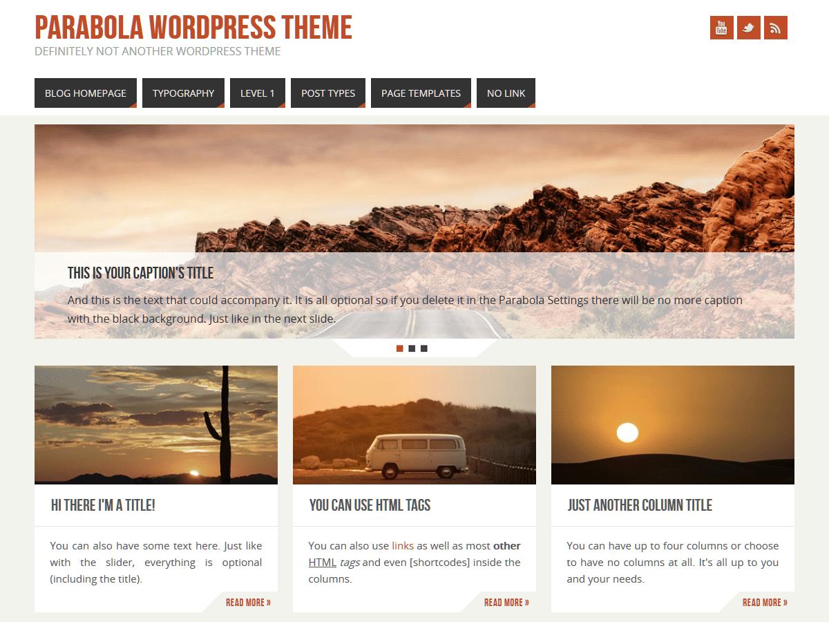 Parabola Download Free Wordpress Theme 5