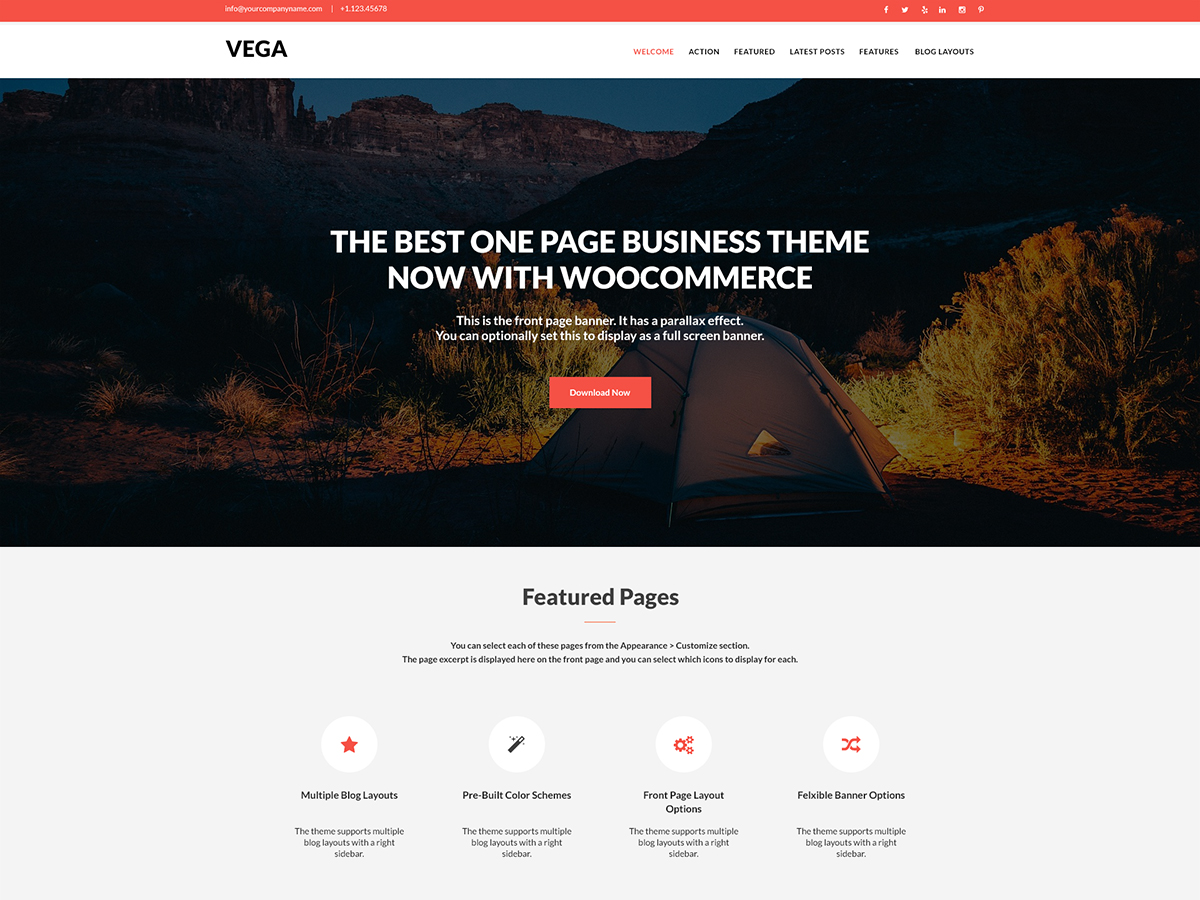Vega Download Free Wordpress Theme 2