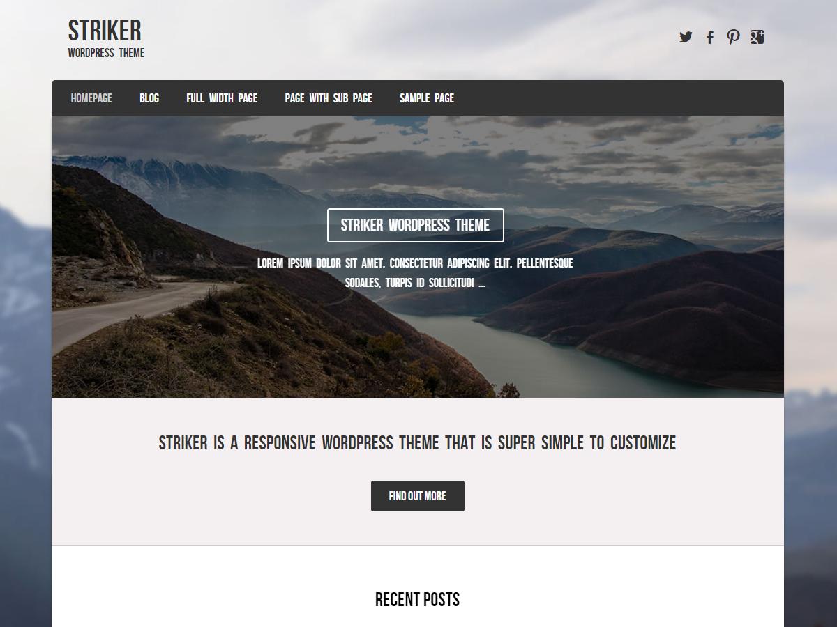 Striker Download Free Wordpress Theme 3