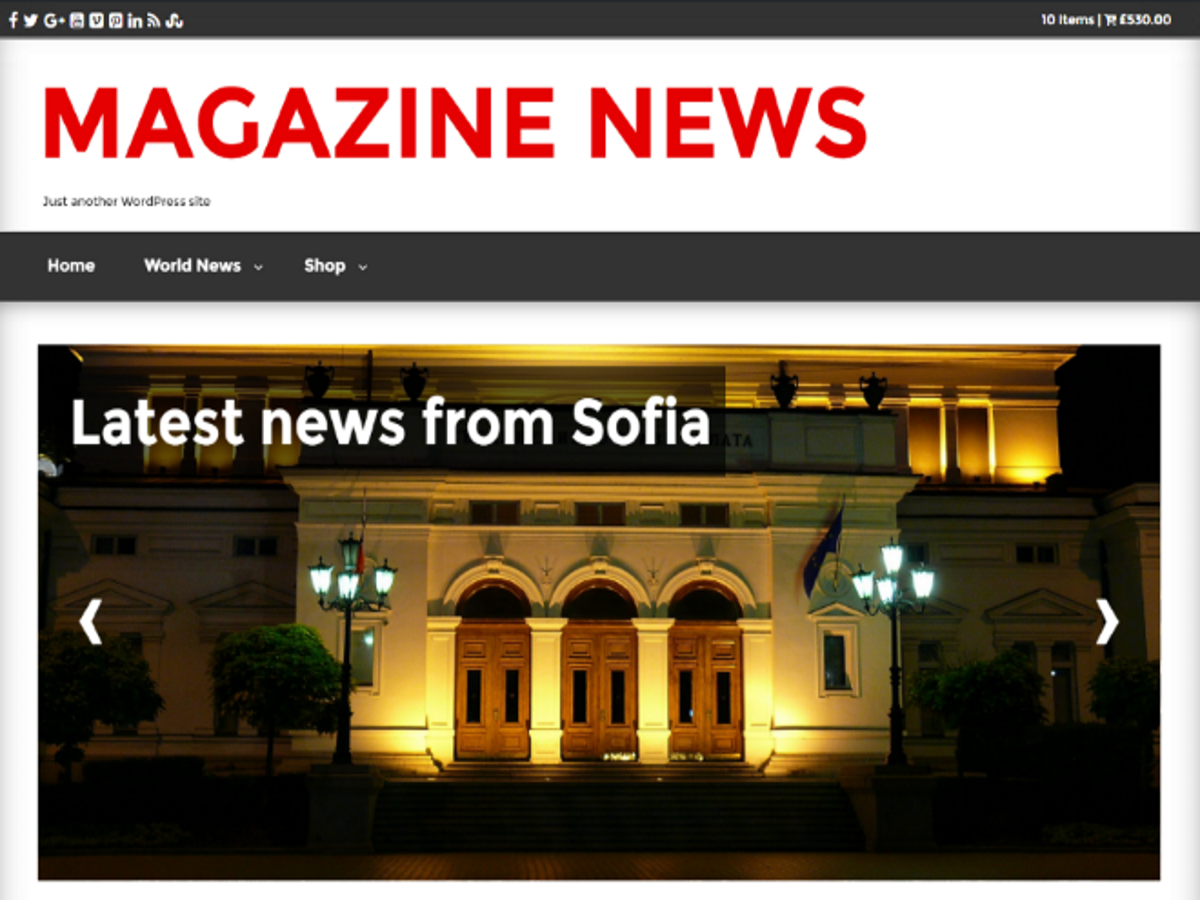 Magazine News Download Free WordPress Theme