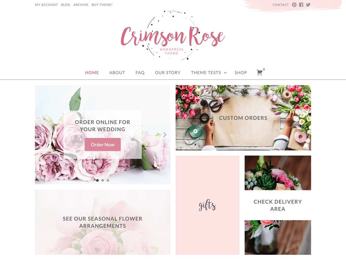 Crimson Rose Download Free Wordpress Theme 3