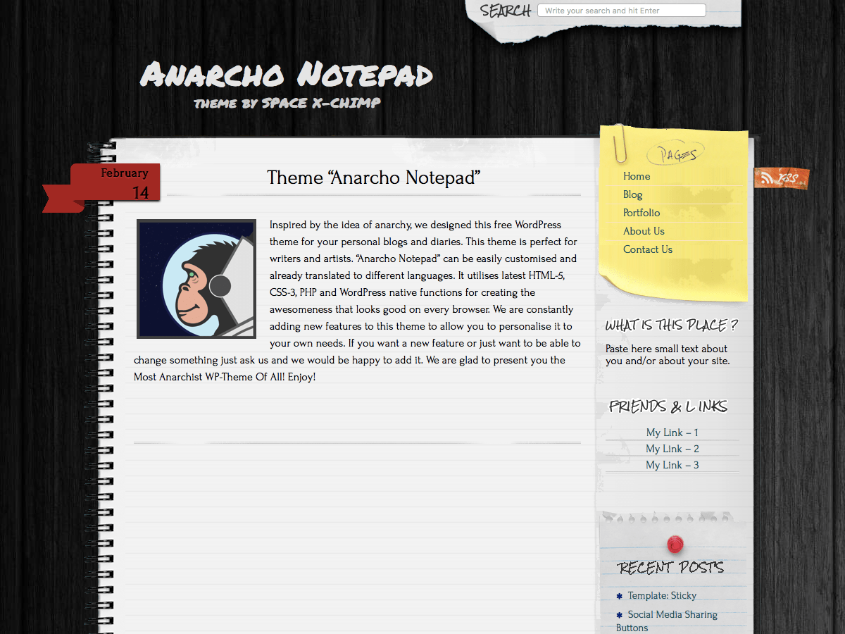 Anarcho Notepad Download Free Wordpress Theme 1