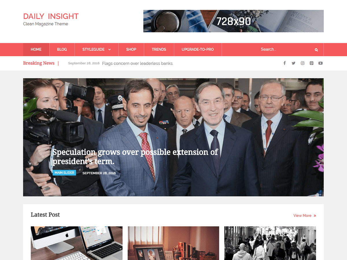 Daily Insight Download Free Wordpress Theme 2