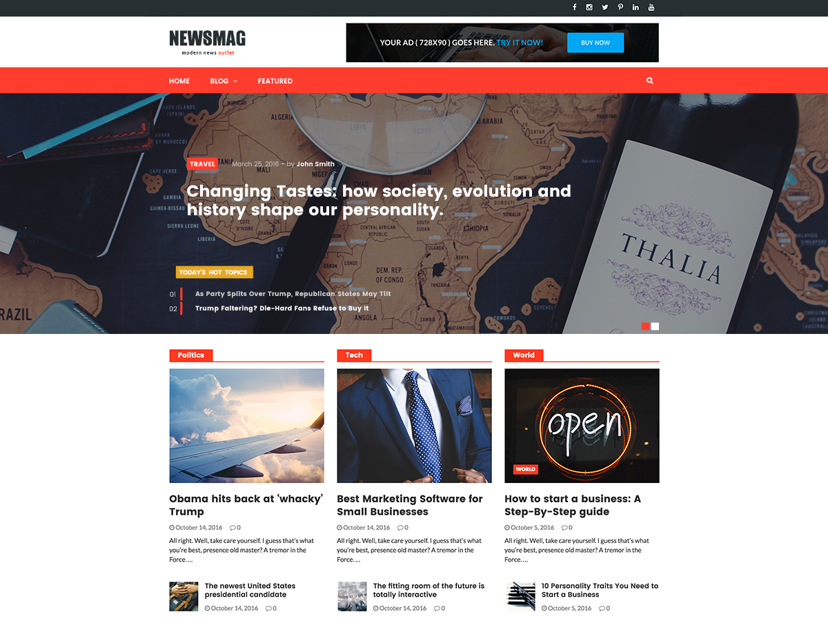 NewsMag Download Free Wordpress Theme 4