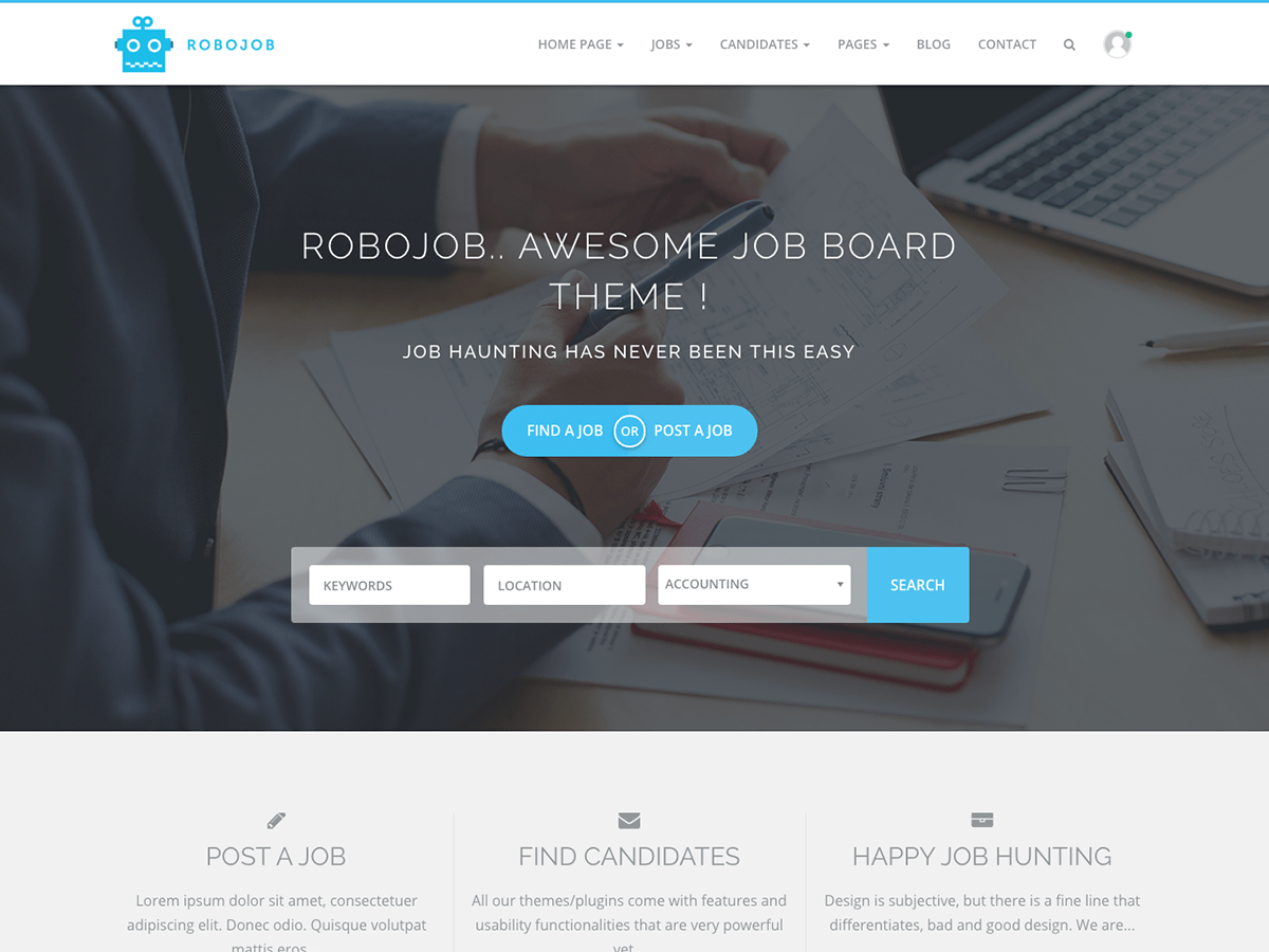 Robojob Lite Download Free Wordpress Theme 1