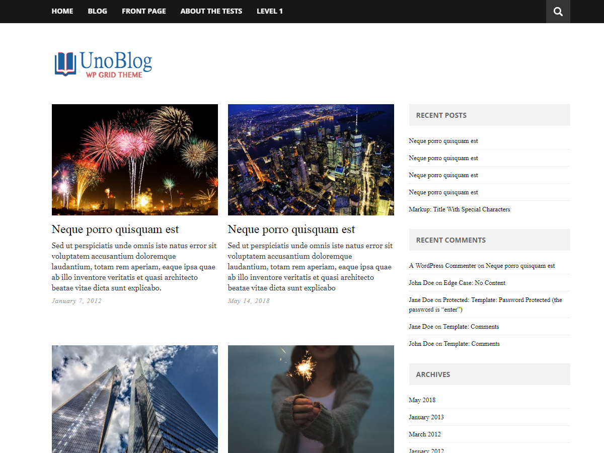 UnoBlog Lite Download Free Wordpress Theme 4
