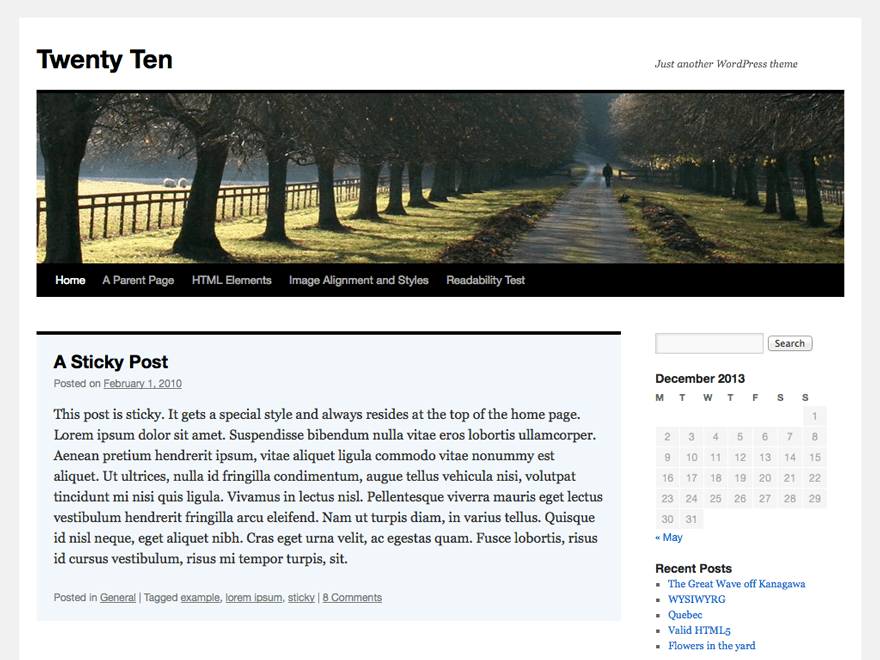 Twenty Ten Download Free Wordpress Theme 1