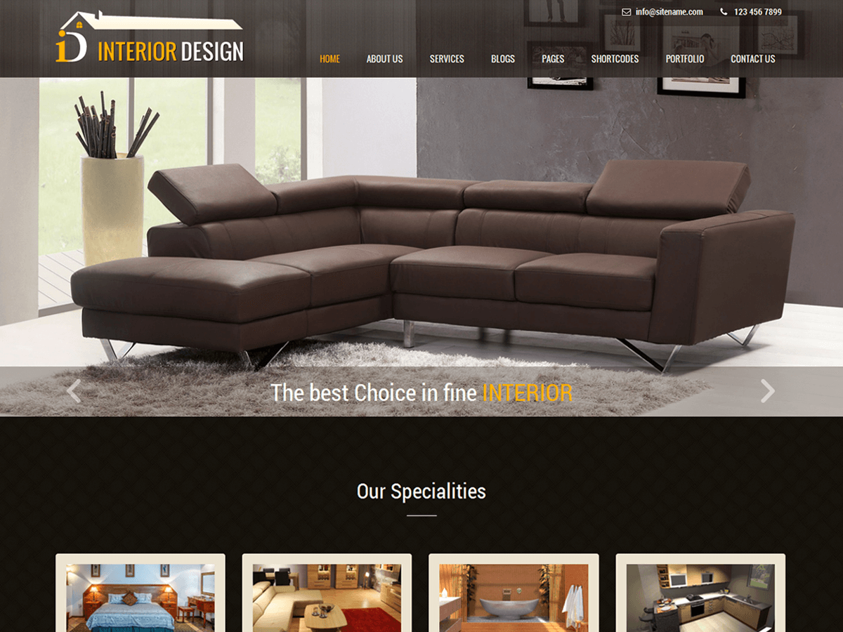 Interior Lite Download Free Wordpress Theme 5