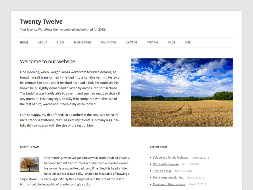 Twenty Twelve Download Free Wordpress Theme 1