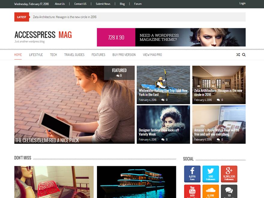 Accesspress Mag Download Free Wordpress Theme 2