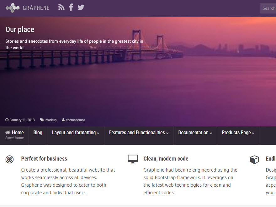 Graphene Download Free Wordpress Theme 4