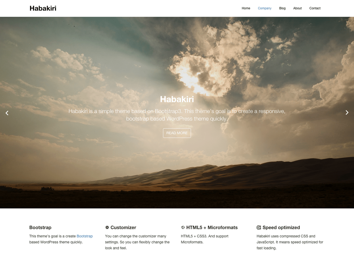 habakiri Download Free Wordpress Theme 2