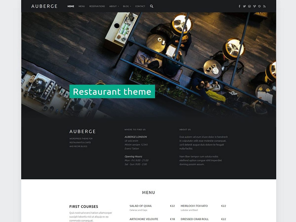 Auberge Download Free Wordpress Theme 2
