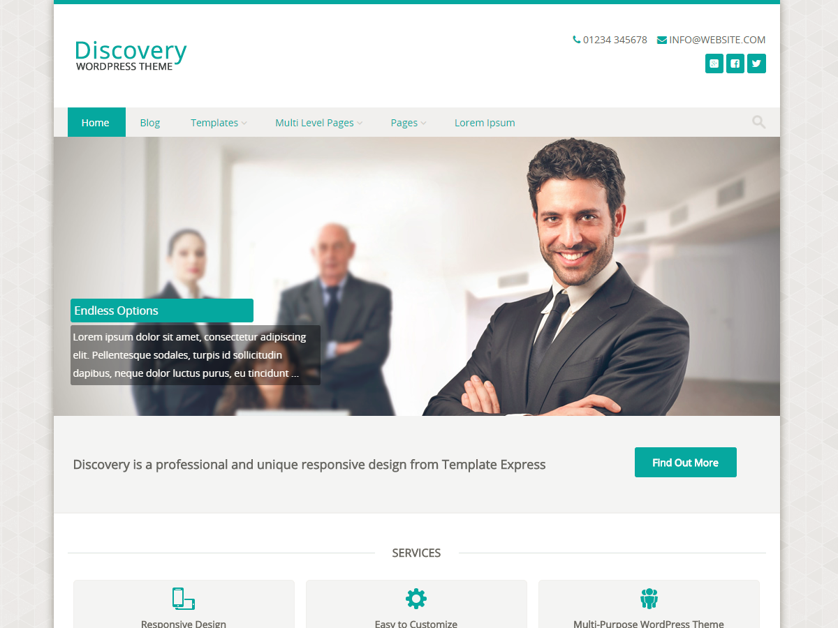 Discovery Download Free Wordpress Theme 4